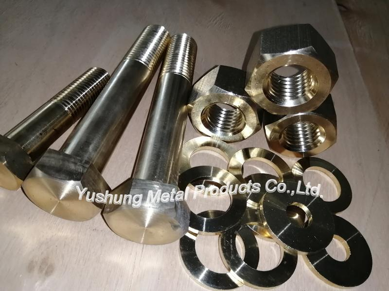 C63000 Aluminium bronze bolts and nuts and washers