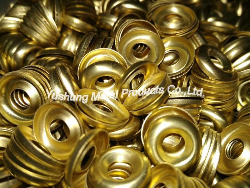 Brass finishing cup washer