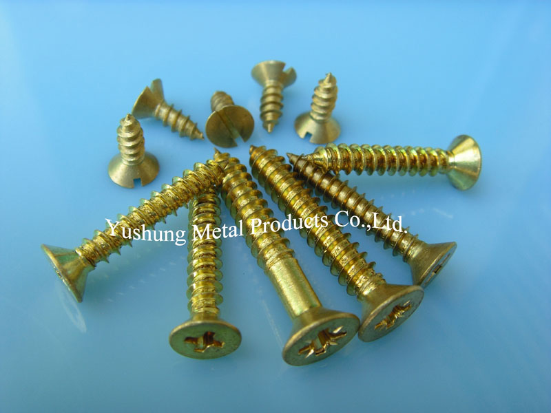 Brass sheet screw