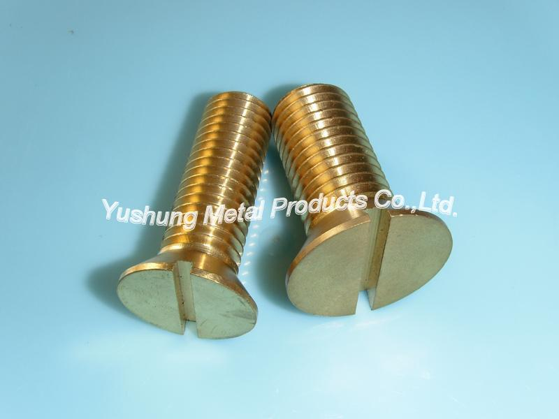 Brass big machine screws