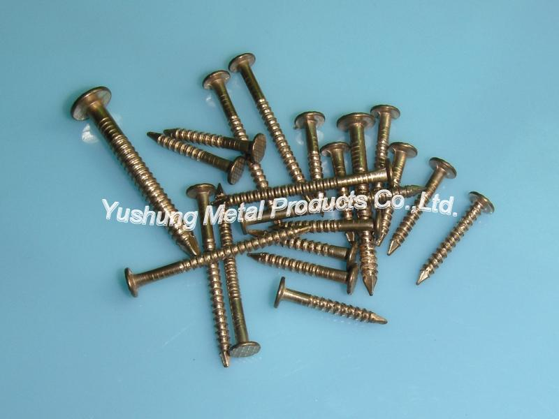 Silicon bronze ring shank nail